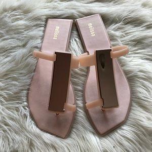Nude Melissa Sandal Size 8